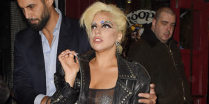 LONDON, ENGLAND - JUNE 09:  Lady Gaga is seen in Soho after her Royal Albert Hall concert with Tony Bennett is cancelled due to Bennett falling ill on June 9, 2015 in London, England.  (Photo by Keith Hewitt/GC Images)