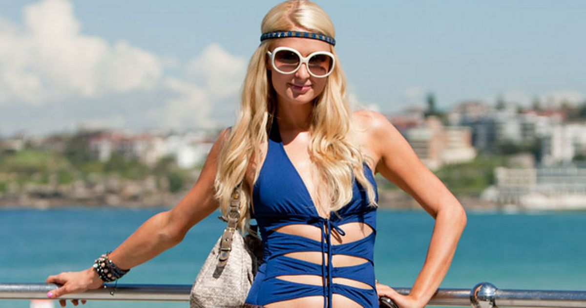 Paris Hilton spotted at Bondi beach on March 29, 2012 in Sydney